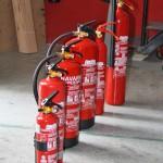 Variedad de extintores